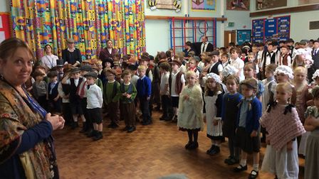The school community celebrated the 150th anniversary with a Victorian day Picture: CONTRIBUTED