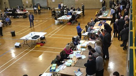 Counting in process in Tendring Picture: TENDRING DISTRICT COUNCIL