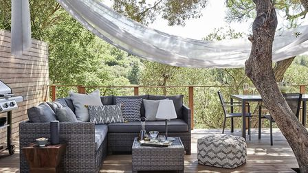 Conjure A Chill Out Zone Alora Garden Modular Corner Lounge Set, Grey, �799; Outdoor cushions from