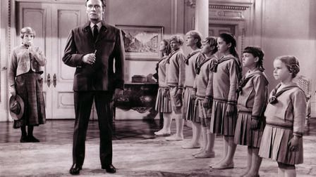 Debbie Turner as Marta, second right, in The Sound of Music with Julie Andrews and Christopher Plumm
