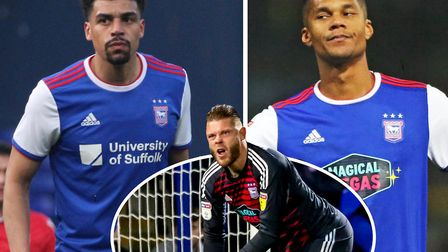 Tom Adyemi, Jordan Spence and Dean Gerken are all out of contract at the end of this season. Picture