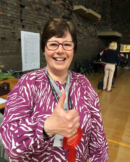 Labour candidate for Tollgate, Diane Hind, wsas delighted to have won a seat Picture: MARIAM GHAEMI