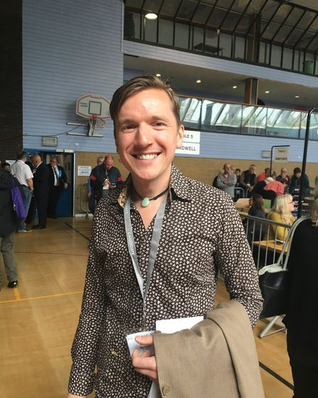 Labour candidate Max Clarke who was re-elected in St Olaves, a two-seat ward in Bury St Edmunds Pic