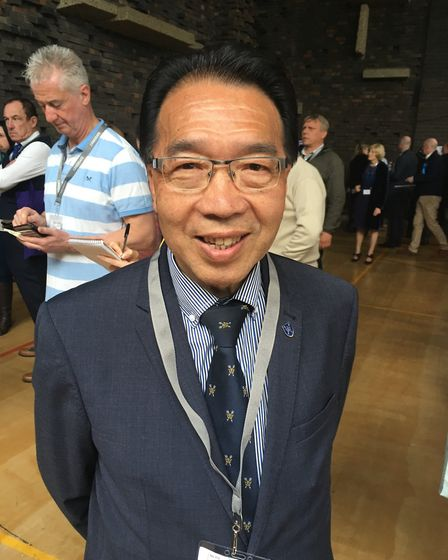 Former St Edmundsbury Mayor Patrick Chung was re-elected onto Southgate, a two-seat ward in Bury St