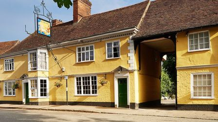 The Sun Inn at Dedham on the Suffolk and Essex border has been named in a national pub award. Pictur