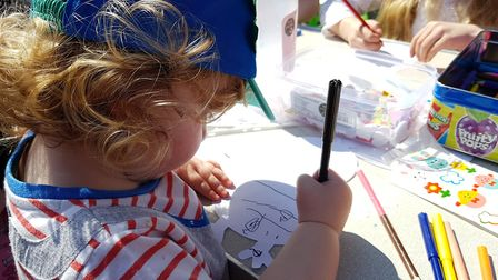 Children took part in craft events at Everything Easter in Felixstowe. Picture: RACHEL EDGE