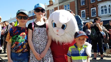 The Easter Bunny visited the Everything Easter event in Felixstowe. Picture: RACHEL EDGE