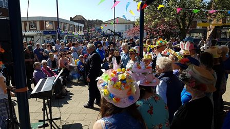 Families and friends enjoyed the sun at Everything Easter in Felixstowe. Picture: RACHEL EDGE