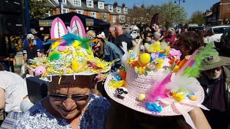 People took part in an Easter bonnet competition at Everything Easter in Felixstowe. Picture: RACHEL