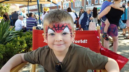 Children had their faces painted Everything Easter in Felixstowe. Picture: RACHEL EDGE