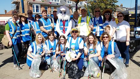 A litter pick was organised at Everything Easter in Felixstowe. Picture: RACHEL EDGE