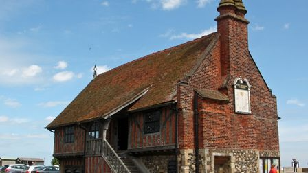 The Moot Hall, Aldeburgh, still in use as the offices of Aldeburgh Town Council Picture: DAVID LAMMI