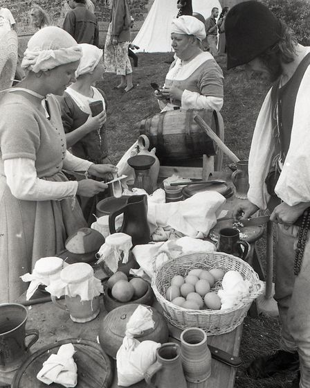 Medieval cookery preparation and demonstration Picture:OWEN HINES