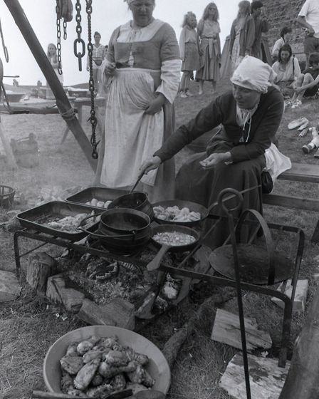Two women cooking food in a demonstration Picture: OWEN HINES