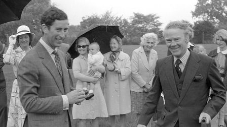Prince Charles at Helmingham Hall in 1977 Picture: ARCHANT