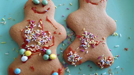 George and Wil's gingerbread men - possibly the victims of a terrible, terrible crime. Picture: LJM
