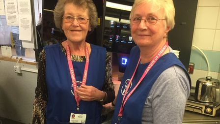 League of Friends volunteers Irene McNaughton and Angela Davies, as it's announced the organisation