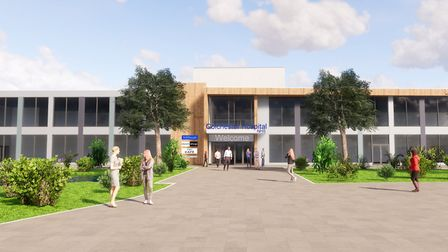 An artist's impression of what Colchester Hospital could look like after its multi-million pound rev