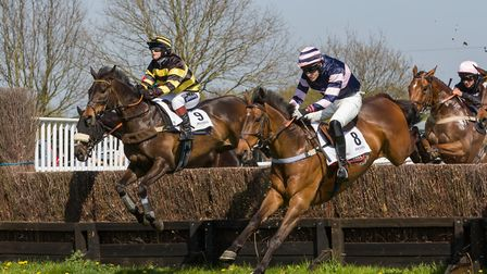 The Gunner Brady and Charlie Case, right, on their way to victory at Higham. Picture: GRAHAM BISHOP