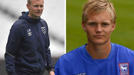 Liam Manning is a former Ipswich Town youngster, now heading to New York. Picture: WHUFC/ITFC