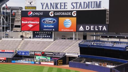 New York City play at the famous Yankee Stadium in The Bronx. Picture: PA