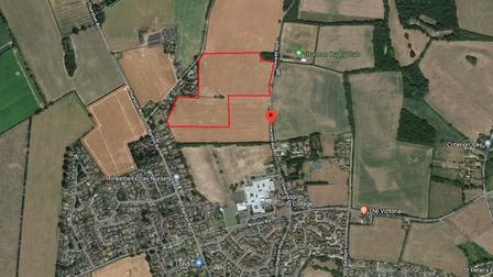 The land in Thurston for 250 homes. Picture: GOOGLE MAPS