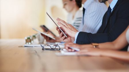 Having a rule that no-one fiddles with their smartphone or tablet could ensure meetings are over mor