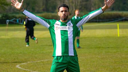 Carlos Edwards in action for Whitton United Veterans. Picture: PAUL LEECH