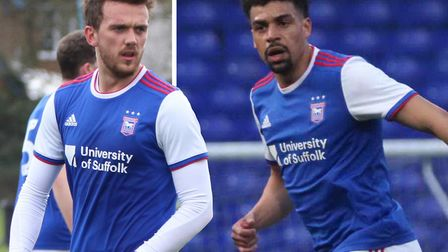 Emyr Huws and Tom Adeyemi are both on the comeback trail. Picture: ROSS HALLS