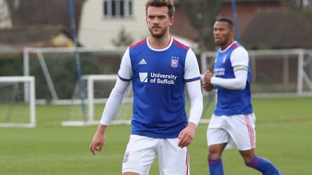 Emry Huws started for Town U23s against Sheffield Wednesday at the end of March. Picture: ROSS HALL