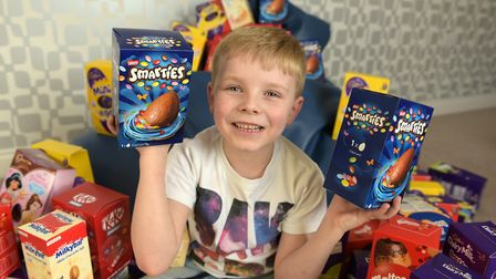 Spencer Morten has collected for then 800 eggs over the years for West Suffolk Hospital Picture: SA