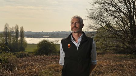 Nick Collinson on the new riverside walk Picture: SARAH LUCY BROWN