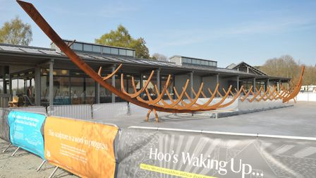 The new sculpture at Sutton Hoo Picture: SARAH LUCY BROWN