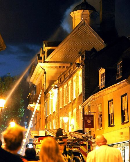 Firefighters battled through the night to tackle the major fire in the historic Cupola House in the