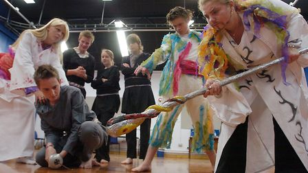 Pupils from Downham High School performing inThe Tempest, to raise money for the town's Sovereign Ce