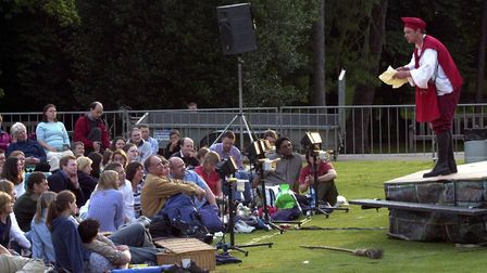 Shakespeare in Christchurch Park. a performance of Romeo and Juliet in 2002. Picture: JOHN KERR