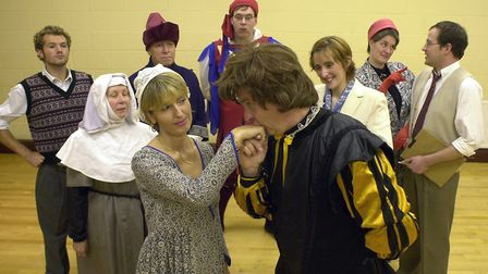 Helen Fradley and Peter Fiddling , as Romeo & Juliet in a play within a play, from Harlequinade,