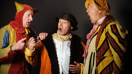 The Deben Players' production of Twelfth Night by William Shakespeare at the Seckford Theatre in Woo
