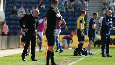 Paul Lambert in thoughtful mood on the touchline at Preston. Picture Pagepix