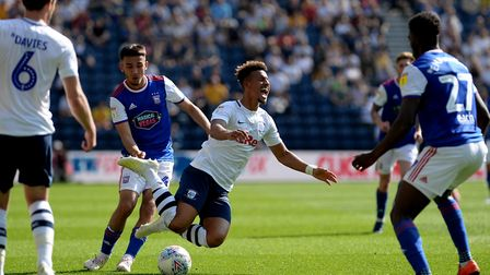 Callum Robinson is fouled by Idris El Mizouni Picture Pagepix