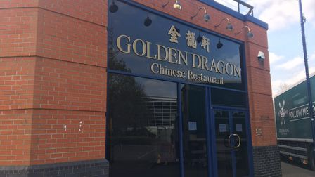 The Golden Dragon, in Grafton Way, Ipswich, has closed down. Photo: James Carr.