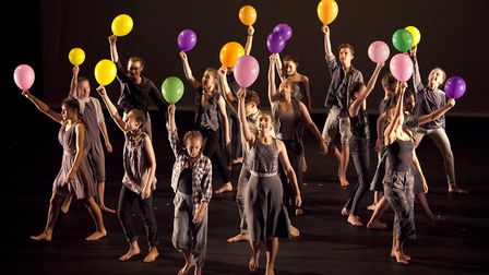 DanceEast's Centre Fior Advanced Training students celebrating ten years of the DanceHouse on Ipswic