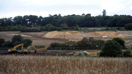 Aldhurst Farm pictured during construction work a few years ago. Picture: PHIL MORLEY