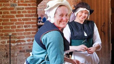 Hundreds of people attended Kentwell Hall's recreation event over the Easter weekend Picture: MIKE H