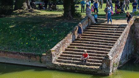 Visitors flocked to Kentwell Hall for the first Tudor event of the year Picture: GAVIN MILLS