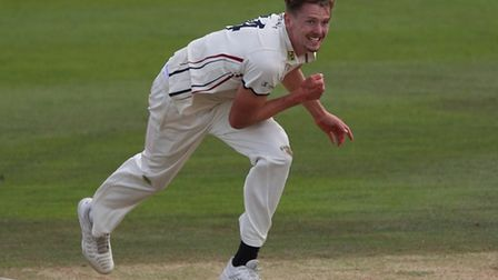 Matt Hunn, who marked his Copdock & OI debut with three wickets in a fine victory at Swardeston.