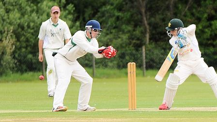 Ben Seabrook, batting, who crowned his Bury St Edmunds debut with an unbeaten century in a seven-wic