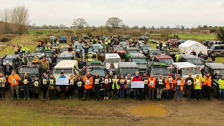 Suffolk Land Rover Owners Club raised £18.566 for Parkinson's UK (Suffolk) and Bike Active Disabilit