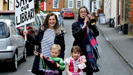Holly Turner with son Harry, and Emma Fisher with daughter Iris, are campaigning against the propose