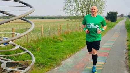The site manager from Bury is determined to finish the course Picture: MACMILLAN CANCER SUPPORT